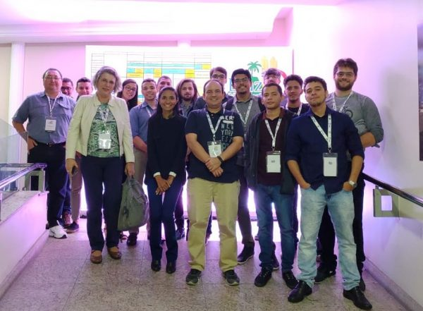 UCs members and coordinator during the XVIII B-MRS Meeting in Balneário Camboriú (Brazil) in September 2019.