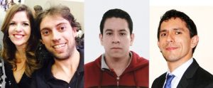Pictures from the authors of the paper from Brazilian institutions. From the left: Ana Flávia Nogueira and Emre Yassitepe (Institute of Chemistry, Unicamp), Juan Andrés Castañeda and Lázaro Padilha (Institute of Physics, Unicamp).