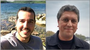 Main article authors. On the left, Luiz Gustavo Pimenta Martins (MSc from UFMG and doctoral student at MIT). On the right, Professor Luiz Gustavo Cançado (UFMG).