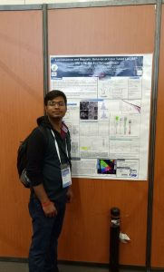 Navadeep Shrivastava at the E-MRS Spring Meeting 2017 presenting the awarded poster.
