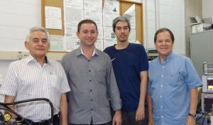 The 4 authors of the article. From the left: Antônio Azevedo da Costa (UFPE professor), José Holanda da Silva Júnior (who has just obtained his doctoral degree from UFPE), Daniel Souto Maior Pifano Ferreira (PhD student at UFPE) and Sergio Machado Rezende (Professor at UFPE).