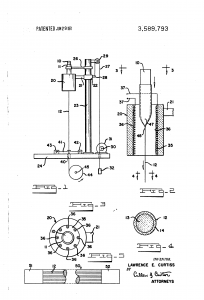 Detail of the patent on the manufacture of fiberglass coated with glass. https://patents.google.com/patent/US3589793A/en?inventor=Lawrence+E.+Curtiss