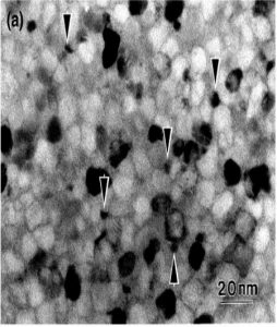 Nanocrystalline structure of VITROPERM material.