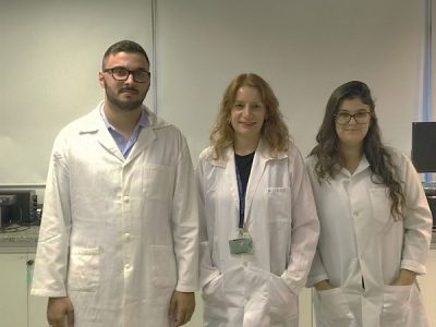 The main authors of the paper: from the left, Wallace Rosado Rolim (doctoral student at UFABC), Amedea Barozzi Seabra (Professor at UFABC) and Joana Claudio Pieretti (Master´s student at UFABC).