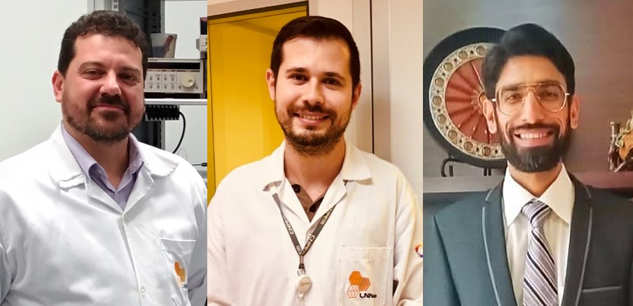 Main authors of the papers. From the left: Carlos Cesar Bof Bufon, Luíz Gustavo Simão Albano and Ali Nawaz.