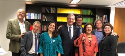 Meeting of ICTP.br in March 2020. Mariana Mazza is the first person from the right. (Credit: SBPC).