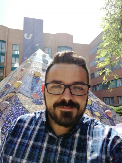 Thiago Duarte in 2017 at the Jaume I University (Spain), where he did a research internship during his doctorate.